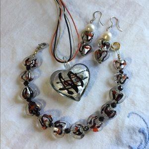 Jewelry - B22:  6 piece set of glass jewelry